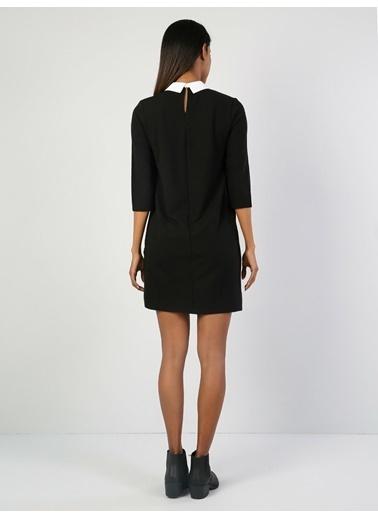 Colin's Truvakar Kol Mini Elbise Siyah